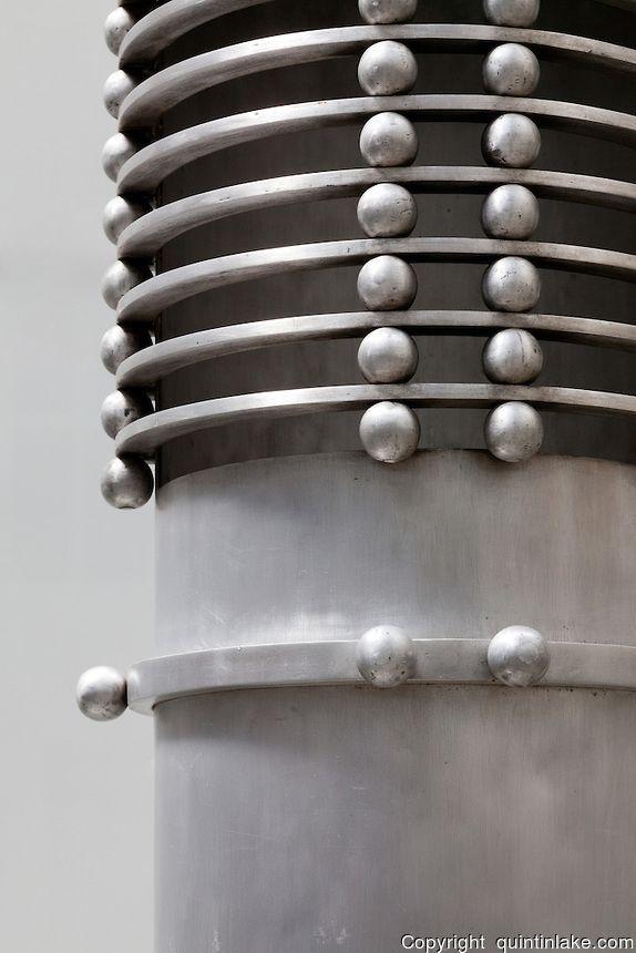 Detail of alumnium radiator duct. Post Office Savings Bank, Vienna, Austria 1904-12 Architect: Otto Wagner