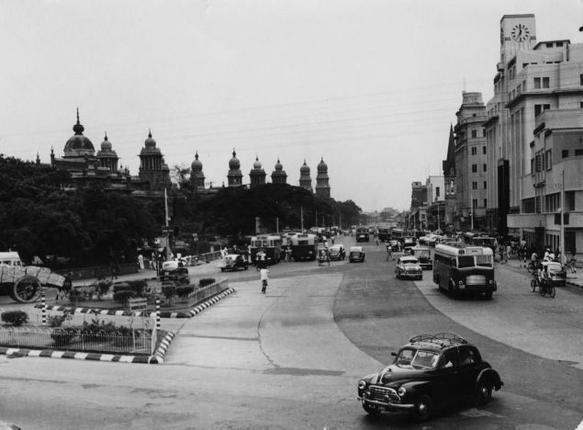 NSC Bose Road, formerly Esplanade Road in 1961.
