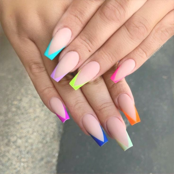 52 Beautiful Coffin French Tip Nail Designs Naildesignscoffin French Tip Acrylic Nails French Tip Nail Designs Best Acrylic Nails