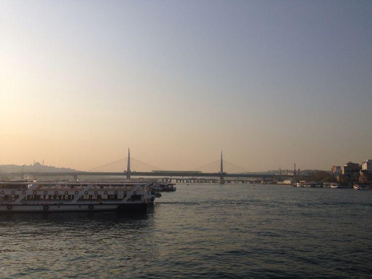 Ferry acrossing Bosphorus strait