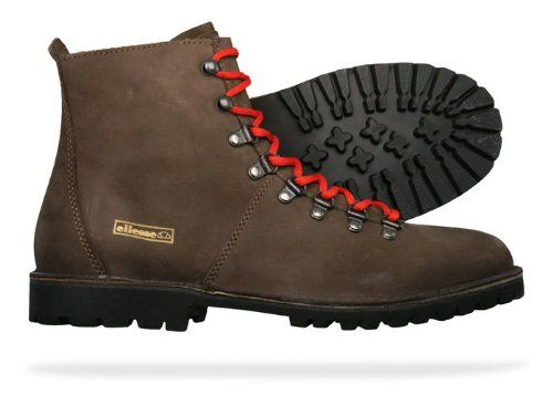 ellesse aosta mens leather boots shoes brown s