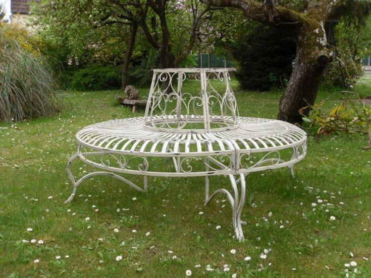 banc en fer forg tour d 39 arbre vente aux encheres du 14 07 13 par normandy auction jardin. Black Bedroom Furniture Sets. Home Design Ideas