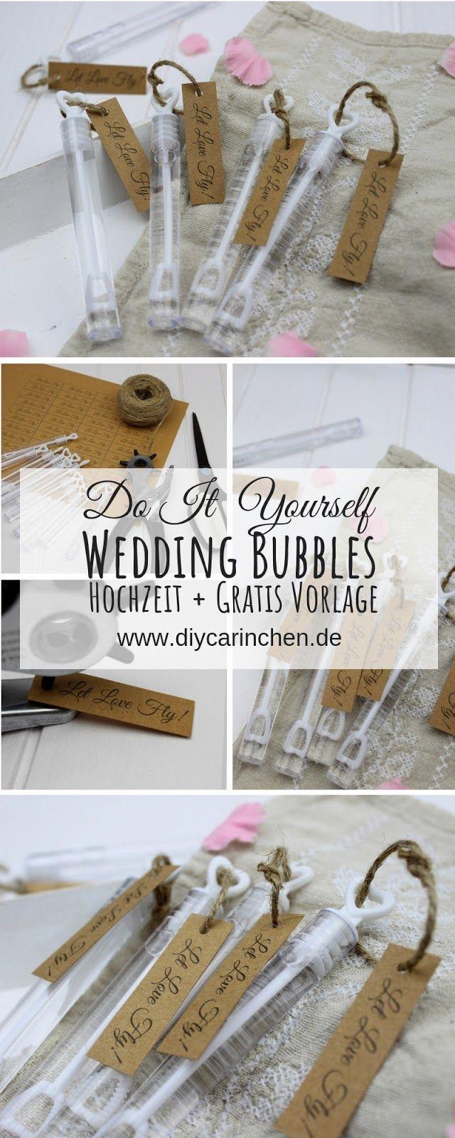 DIY – Wedding Bubbles einfach selber machen – Gastgeschenk Hochzeit – Alle DIYs von DIYCarinchen