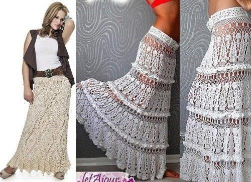 Модная юбка вязанная крючком
