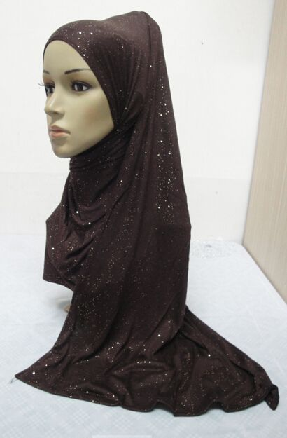 H863 new style soft cotton jersey glitter muslim long scarf,fast delivery US $96.12 To Buy Or See Another Product Click On This Link  http://goo.gl/yekAoR