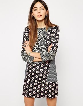 Native Rose Islander Shift Dress in Patchwork Print from ASOS