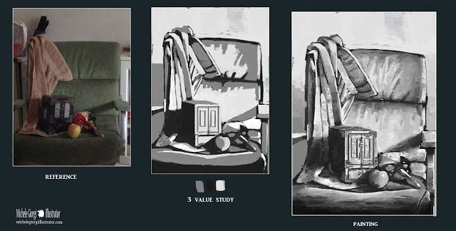 Michele Giorgi Illustrator                     : Still Life : Value Study