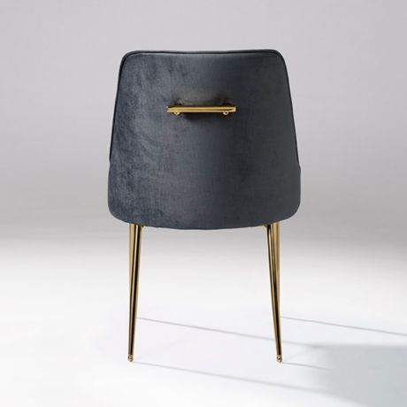 Gray Velvet Dining Chair With Gold Legs In 2019 Cheap