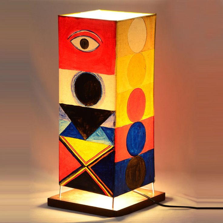 Wooden Table Abstract Lamp Light shade Desk Home Shopping Product Gift Art Décor