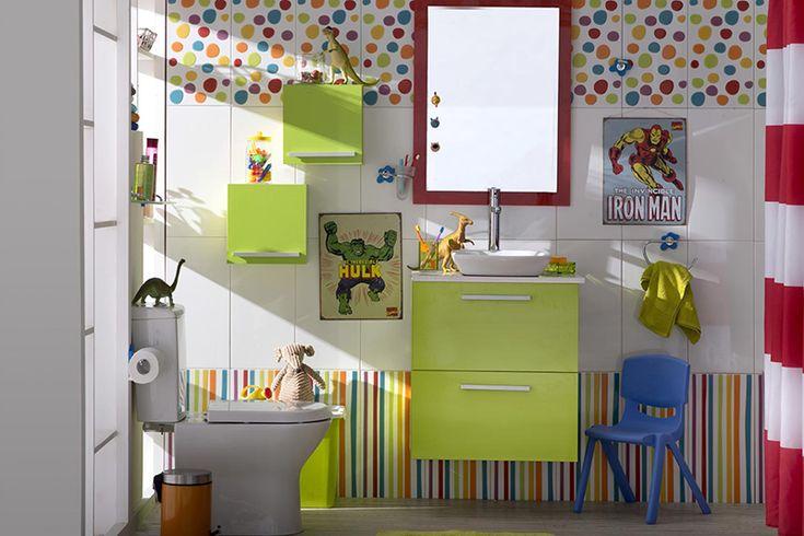 ¡Un baño de niños, debe tener mucho estilo! #Homecenter #Sodimac #Baño #Niños