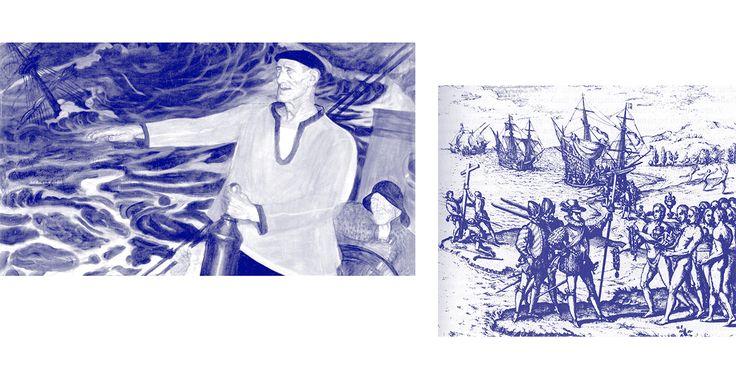 Navío San Juan..Ballenero.En uno de estos larguísimos viajes, uno de estos barcos, la nao San Juan, se hundió en las aguas de la bahía roja, Red Bay en la costa de Canadá