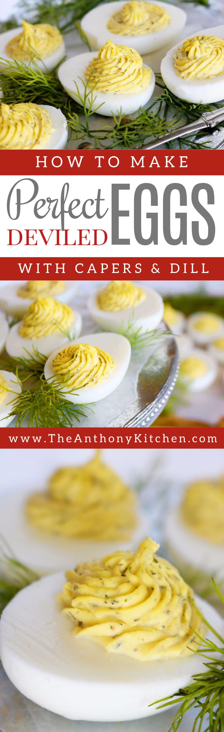 Best Delived Eggs Recipe | A recipe for Southern deviled eggs, featuring capers, tarragon vinegar, and Dijon mustard to givethis delicacy a unique edge | #fingerfood #partyfood #appetizers #classyappetizers
