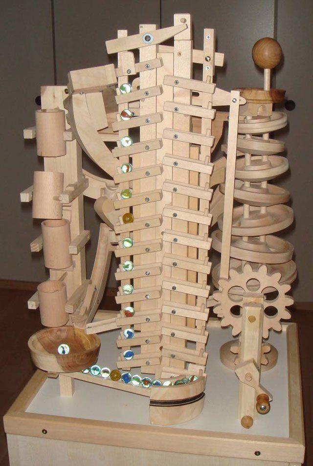 Seven Amazing Wooden Marble Machines by Paul Grundbacher