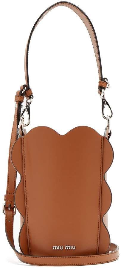 949fb44845a MIU MIU Scallop-edged leather bucket bag   WHERE DID YOU GET THAT ...