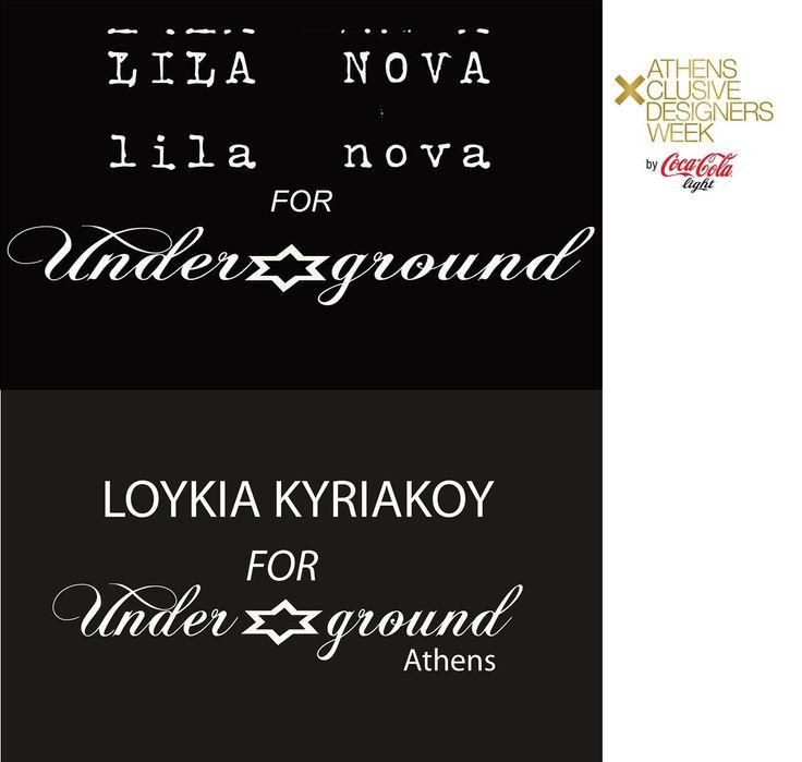 """Το fairytale chic με vintage στοιχεία στυλ της Lila Nova, και το safari/utility glamour, ύφος στα ρούχα της Loukia Kyriakou, ταίριαξαν σαν γάντι με το Underground look, μέσα από συλλογές που συνδυάζουν τα πιο """"δυνατά"""" στοιχεία της σύγχρονης μόδας: τη δημιουργική δύναμη και τη χρηστική αξία. Aνaμένουμε το νέο εντυπωσιακό catwalk των δύο σχεδιαστριών"""