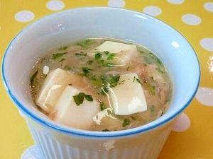 「【離乳食】豆腐のとろみ煮(ツナ&小松菜)」とろりと食べやすそうです(^^)【楽天レシピ】