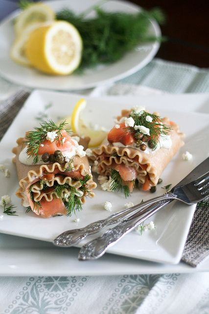 Smoked Salmon Lasagna Rolls-5 by Sonia! The Healthy Foodie, via Flickr