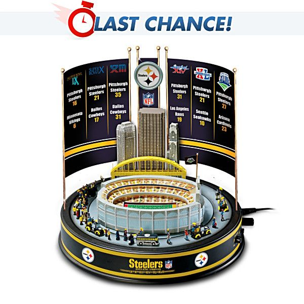 OH MY GOODNESS! LIMITED EDITION. Pittsburgh Steelers Super Bowl Carousel