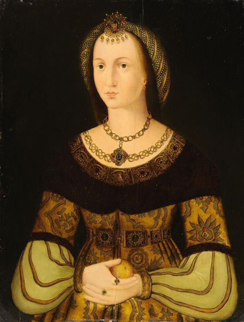 Portrait of Sibylle of Cleves, Electress of Saxony. She was the older sister of Anne of Cleves, who was briefly married to Henry VIII.