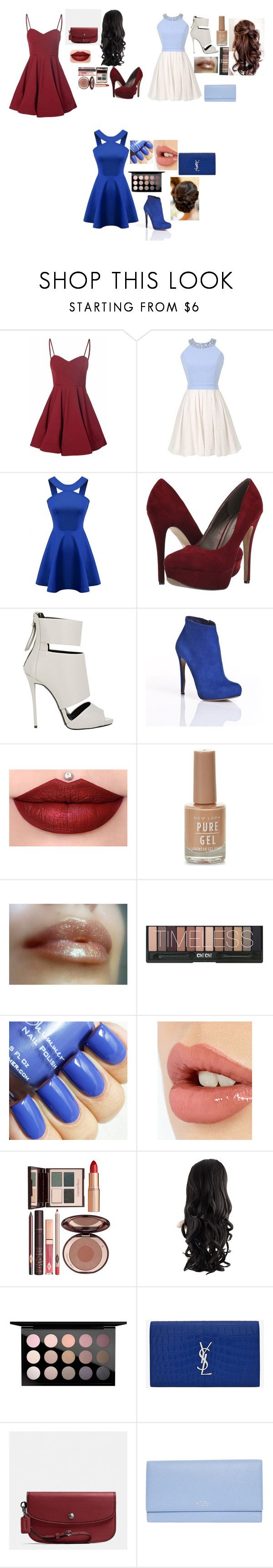 """An elegant Look."" by kayandzay on Polyvore featuring Glamorous, Michael Antonio, Giuseppe Zanotti, Nicholas Kirkwood, Charlotte Tilbury, MAC Cosmetics, Yves Saint Laurent, Coach and Smythson"