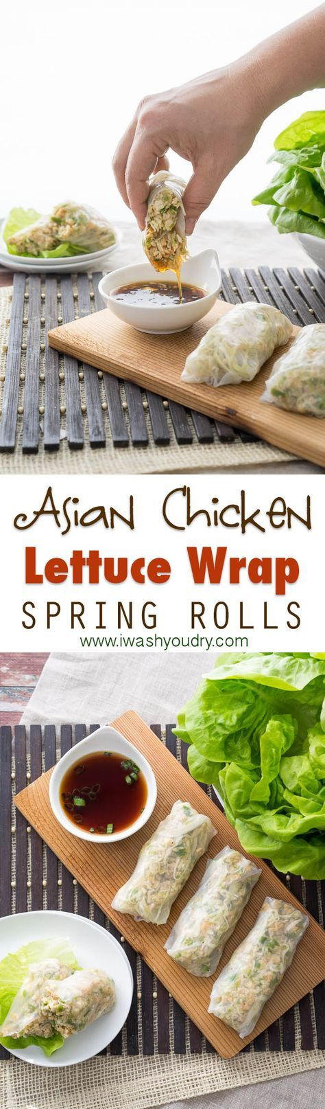 Fresh and easy! Asian Chicken Lettuce Wraps in a Spring Roll wrapper!