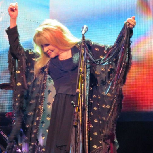 Stevie   ~ ☆♥❤♥☆ ~   rocking it in her Stand Back shawl ~ at Madison Square Garden in New York City, NY on December 1st, 2016 during her '24 Karat Gold' US tour concert 2016  ~  https://www.stevienicksofficial.com/news/stevie-nicks-announces-27-city-north-american-24-karat-gold-tour-with-pretenders