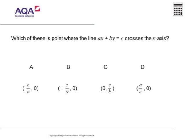 Straight Line Graphs | Diagnostic Questions