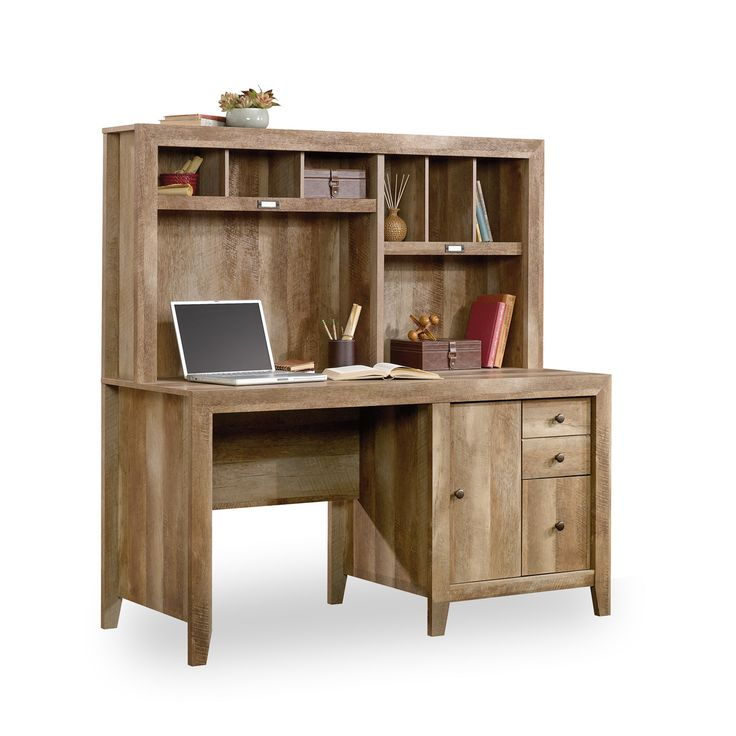 J.Conrad Furniture - Sauder Dakota Pass Computer Desk with Hutch (420410), $399.99 (http://www.jconradfurniture.com/Sauder-Dakota-Pass-Computer-Desk-with-Hutch-420410/)