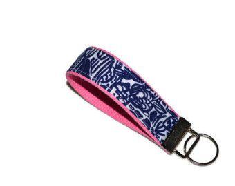 Lilly Pulitzer Keychain Wristlet by xoribbons on Etsy