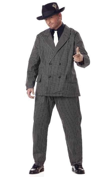 Brand New Plus Size Gangster Mob Mafia Costume #CaliforniaCostume #CompleteCostume