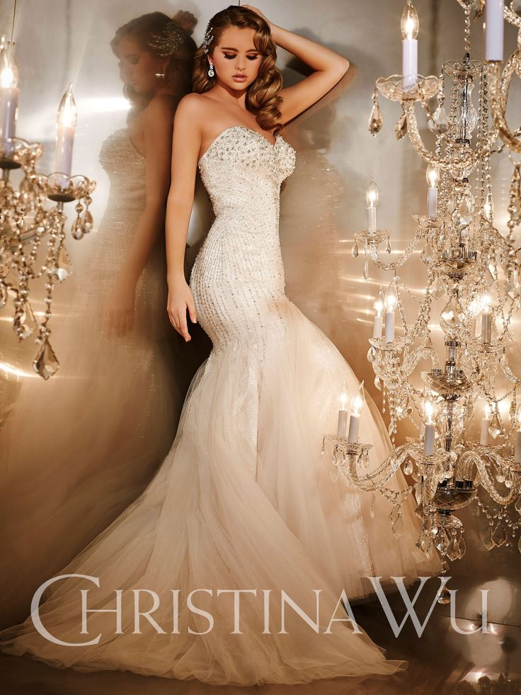 Sexy Old Hollywood for the red carpet bride ~ Christina Wu Wedding Dresses - Style 15557 #oldhollywood #weddingdresses