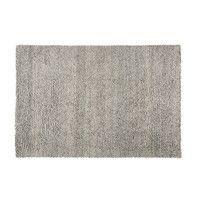 Grijs tapijt van wol en katoen 160x230 | Maisons du Monde