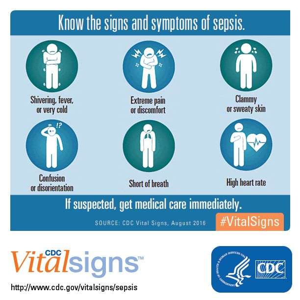Know the signs and symptoms of sepsis.