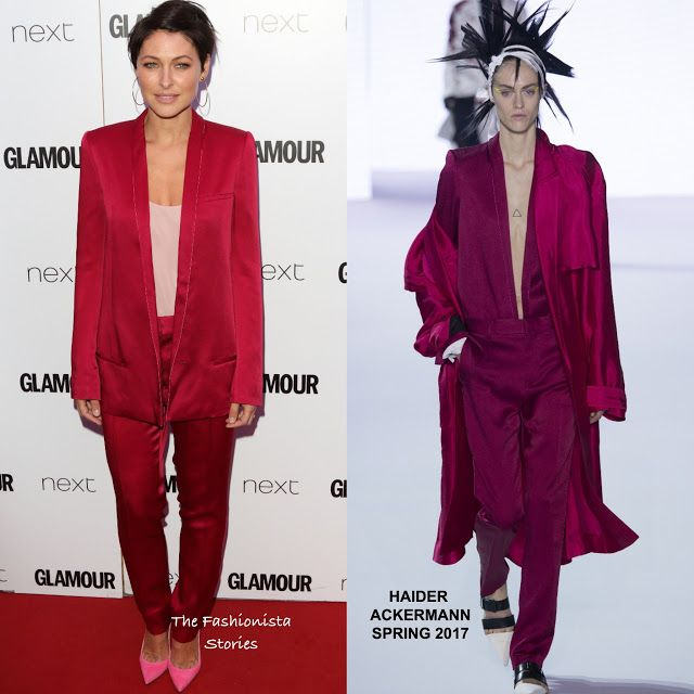 Emma Willis in Haider Ackermann Spring 2017 at the 2017 Glamour Women of The Year Awards