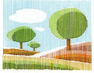 Resultado de imagen de dibujo con lineas rectas paisaje