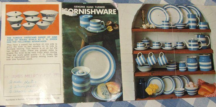 AUSTRALIAN SALES BROCHURE (front): an Australian sales document showing the Judith Onions' Cornishware range from 1968. ✫ღ⊰n