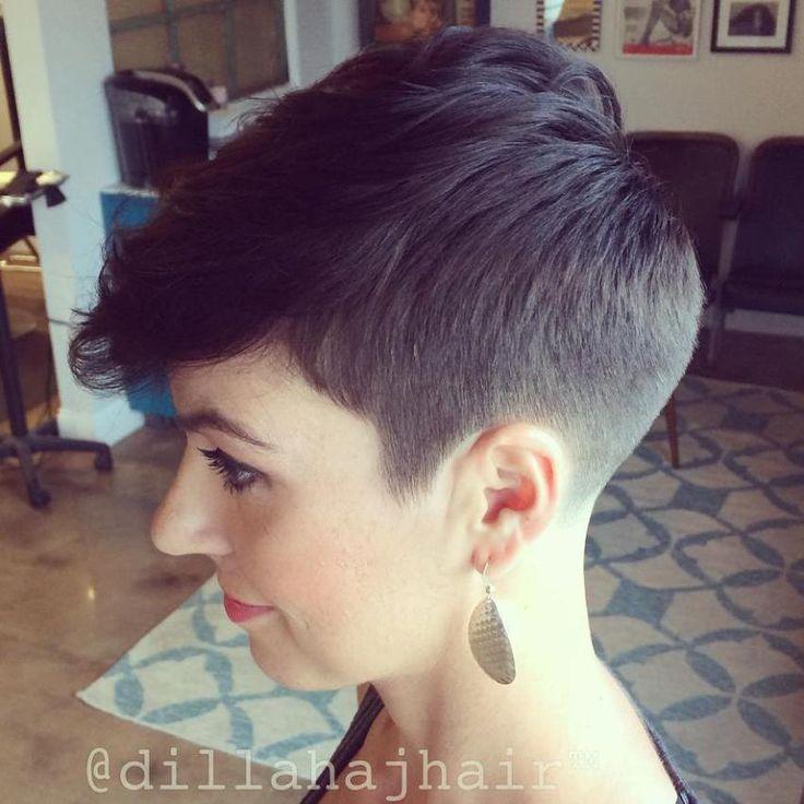 Short Sides Long Top Haircut For Women