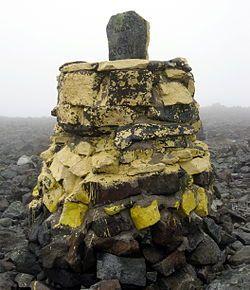 Rajapyykki 303B Suomen korkeimmalla kohdalla Haltin rinteellä. Suomen korkein kohta (noin 1 324 m) sijaitsee Haltilla. Highest place in Finland is in Halti mountain in the border of Finland and Norway