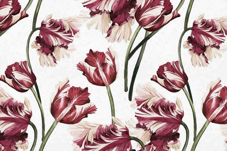 Homeowners can fall in love every day with the beauty and allure of this spring time flower with our Red Tulip Wallpaper.