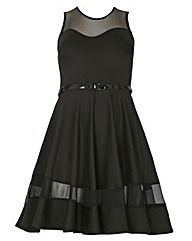 Sienna Couture Mesh Panel Skater