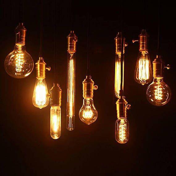 10pc E27 2013 New Edison E27 Globe Light Bulb Edison Etsy Edison Light Bulbs Copper Pendant Lights Vintage Light Bulbs