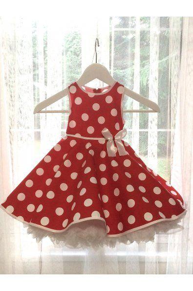 Puntíkaté dětské šatičky bez rukávů   kulatý výstřih a širší ramínka šaty jsou v pase na gumičku zip na zádech spodnička není součástí šatů