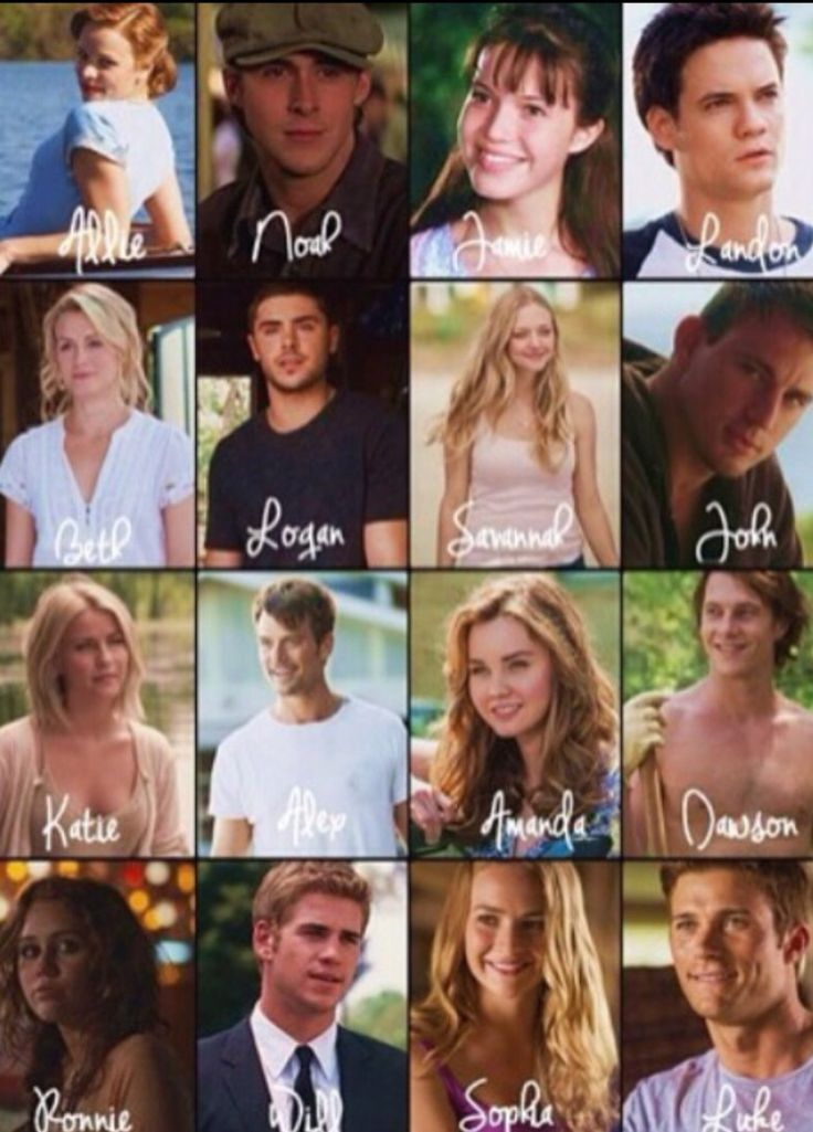 The whole squad of the Nicholas Sparks Movies Crew