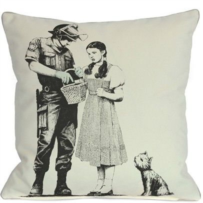 Dorothy 16x16 Pillow Cover Ozsale71806PL16C-White-Black