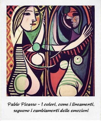 Pablo Picasso | I colori, come i lineamenti, seguono i cambiamenti delle emozioni #quotes