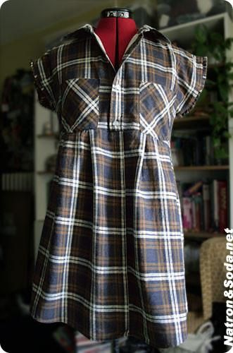 Upcycling herren Hemd wird Tunika, Frauen Bluse