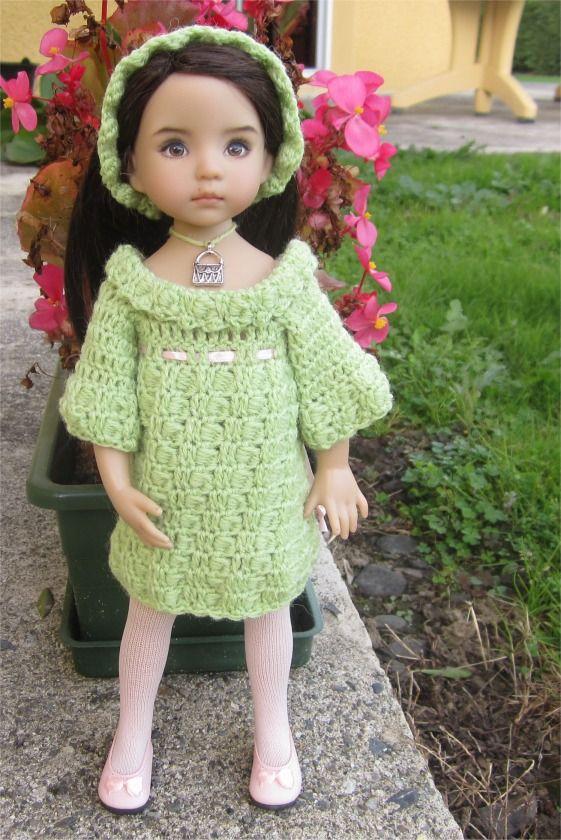 48- FICHE PATRON Tenue Perle pour poupée Little Darling, Paola Reina, Les Chéries de Corolle ou Minouche : Jeux, jouets par atelier-crochet