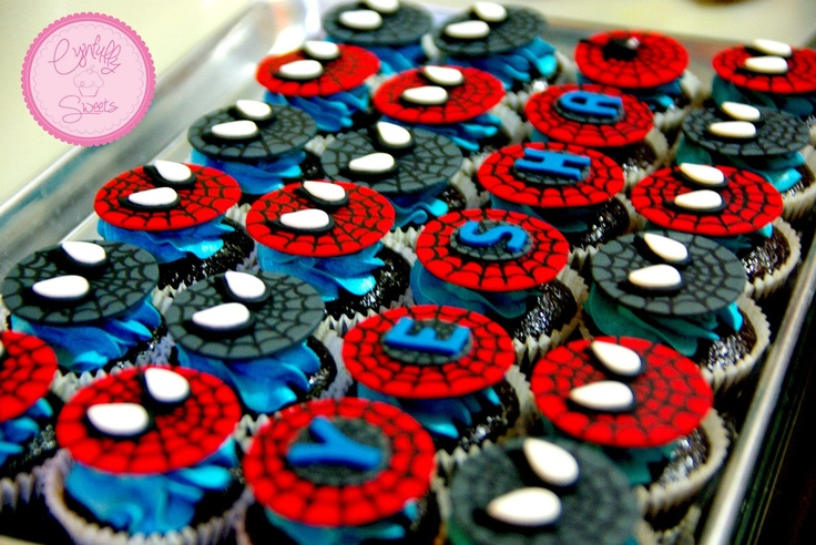 Spiderman Cupcakes Cynfullysweets Pinterest