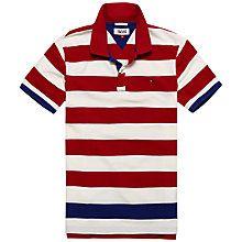 Buy Hilfiger Denim Basic Stripe Polo Shirt Online at johnlewis.com