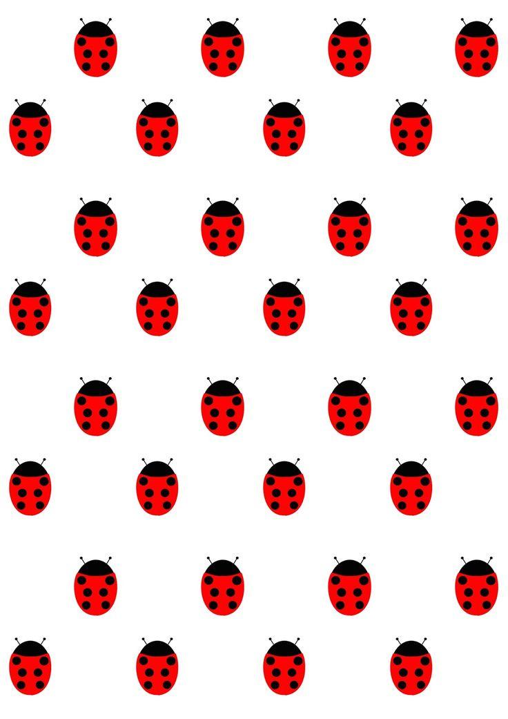 Free digital dotted ladybug scrapbooking paper - ausdruckbares Geschenkpapier - freebie | MeinLilaPark – DIY printables and downloads